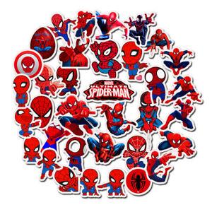 Waterproof-Spiderman-sticker-Cartoon-Stickers-Anime-Super-Heroes-for-KID-Luggage