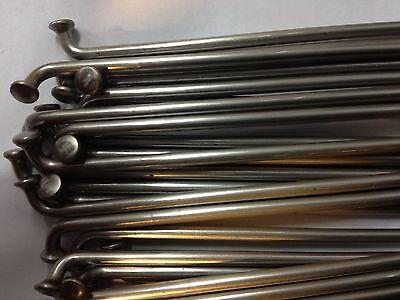 2.6mm Steel Spokes//nippls Silver.60trough178mm.12G set .straight gauge.18pc