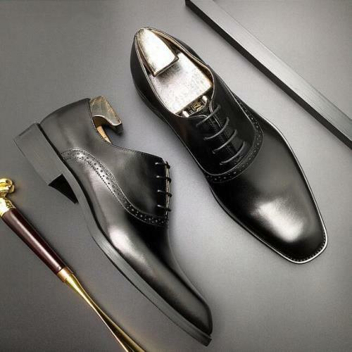 Details about  /Mens Formal Oxfords Wedding Bridegroom Work Brogue Real Leather Business Shoes L