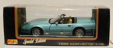 Maisto Special Edition 1996 Corvette Convertible Scale 1:18 Lt Blue NIB