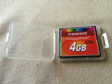 4GB TRANSCEND HIGH SPEED COMPACT FLASH CARD CF MEMORY 133x *INCLUDES CASING*