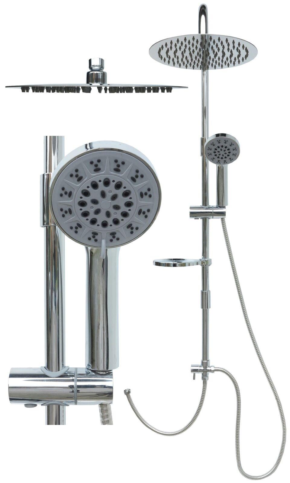 Duschset Duschsystem Edelstahl Duschstange Duscharmatur Regendusche Brause Chrom