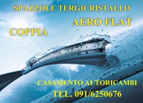 KIT 2 SPAZZOLE TERGICRISTALLO TERGIVETRO AERO FLAT CITROEN C4 COUPE/'