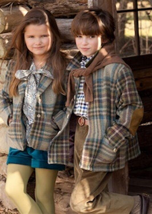 BNWT Hermosa Diseñador OSCAR DE LA RENTA Chaqueta de lana Plaid para niñas Tamaño 8