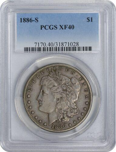 1886-S Morgan Dollar XF40 PCGS