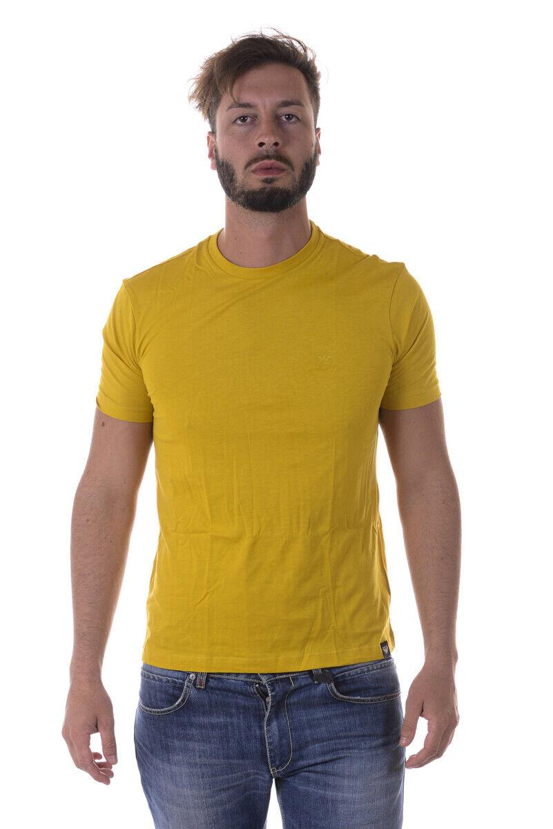 Armani Jeans 3 T Shirt Sweatshirt Man Yellow 6Y6D036JPFZ 605 Sz L MAKE OFFER