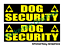 Dog Security Magnet Magnetic K9 Dog Handler K9 Patrol FESTIVAL 460mm x 2