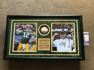 Aaron-Rodgers-Autograph-Signed-OMLB-Baseball-Packers-Shadow-Box-Collage-JSA