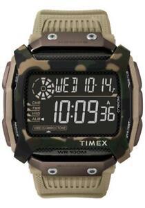 Orologio-Uomo-TIMEX-COMMAND-TW5M20600-Silicone-Marrone-Camouflage-Militare