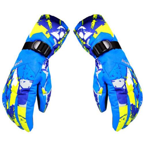 Adults Kids Winter Warm Waterproof Windproof Snow Snowboard Ski Sports Gloves