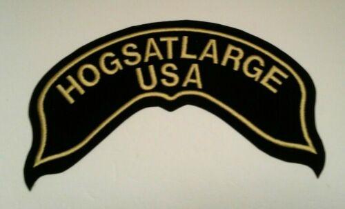 "Details about  /HOGSATLARGE Iron-On Patch Oversized 12/"" Jacket Patch"
