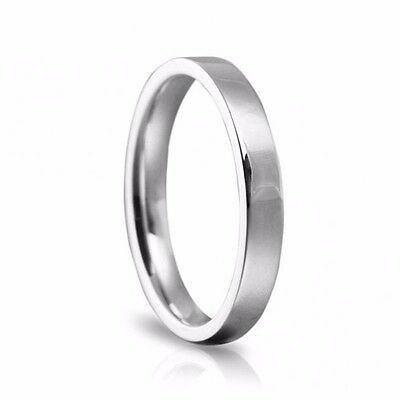 Platinum 950 Heavy Flat Court Shaped Comfort Fit Unisex Wedding Ring Band