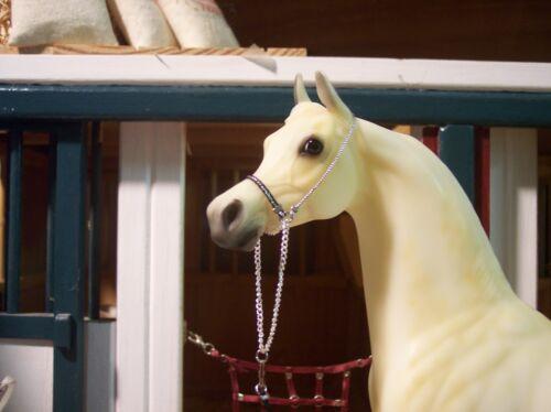 Jaapi BLACK//SILVER Arabian halter to fit Breyer or Stone model horses