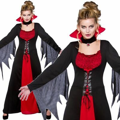 """Ladies 18/"""" Long Straight Wig Adult Witch Vampire Halloween Fancy Dress Accessory"""