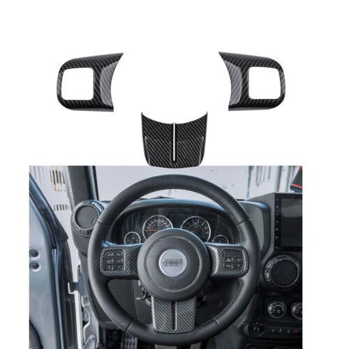 12X Carbon Fiber Interior Accessories Decor Cover Trim kit For Jeep Wrangler JK