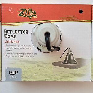 Zilla Reptile Silver Dome Heat Light 5 5 Quot Fixture Lamp Max
