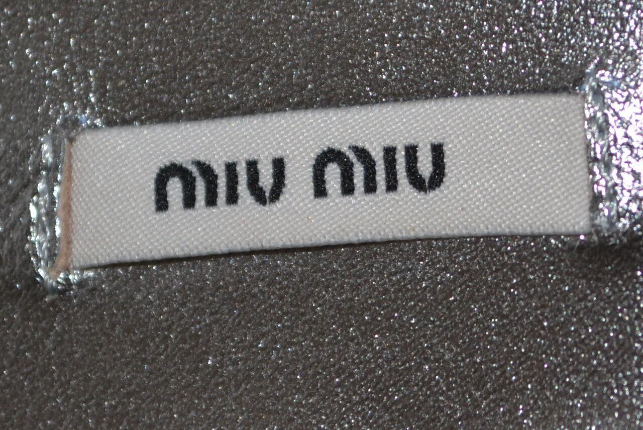 Prada Miu Miu Miu Miu zapatos zapatos de salón heels sandalias mules 38 UK 5 nuevo  de plata f260e9