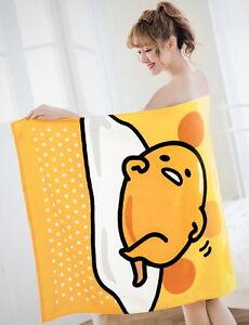 Sanrio ぐでたま Gudetama Egg Big Beach Towel 76x152cm 100% Cotton GT-10402-B
