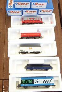 Roco 41155 Set 5 Pièces À Wagon De Marchandises La Db Ag Ep.5/6 Nem, Kkk,