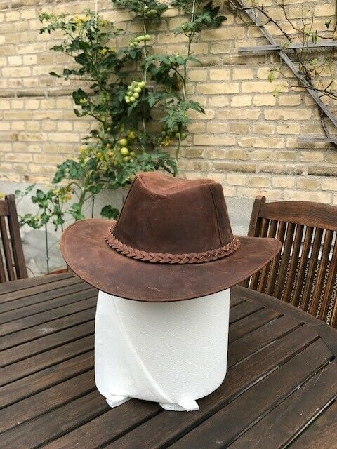 Hat, Herre læderhat, str. L