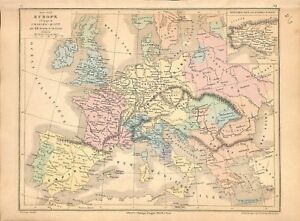 Carte Europe Charles Quint.Europe Empire Charles Quint 1453 1558 Espagne Allemagne Pays Bas Map