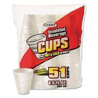 Dart Drink 8.5 Oz Foam Cups - Dcc8rp51 on sale