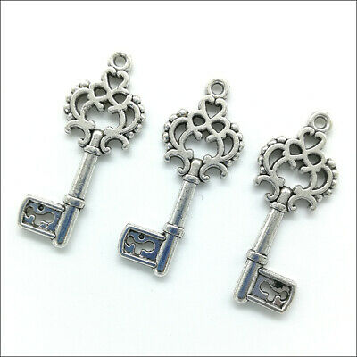100Pcs Lot Antique Silver FAITH Charms Pendants for DIY Jewelry Making Craft