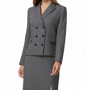 Tahari by ASL Women's Blazer Black Size 6P Petite Double-Breasted $149- #710