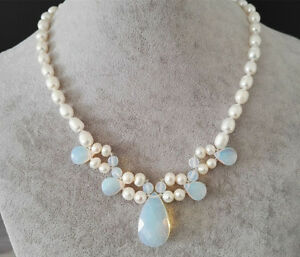 Suesswasserperle-Reisperle-Perlenkette-Opal-Perlenkette-Opal-Anhaenger