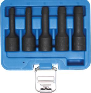 """Spezial-Steckschlüssel-Einsatz-Satz Innenvierkant 125mm 1//2/"""" SW 8-16mm 5-tlg"""