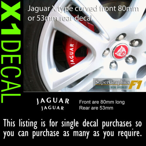 Brake decal sticker to fit Jaguar X type front /& rear option 80mm wide spacingx1