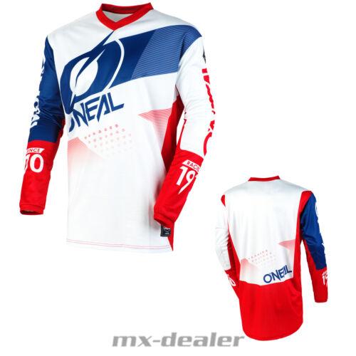 2020 O /'Neal Element Factor Jersey Blanc Rouge Maillot MX Motocross VTT DH Enduro