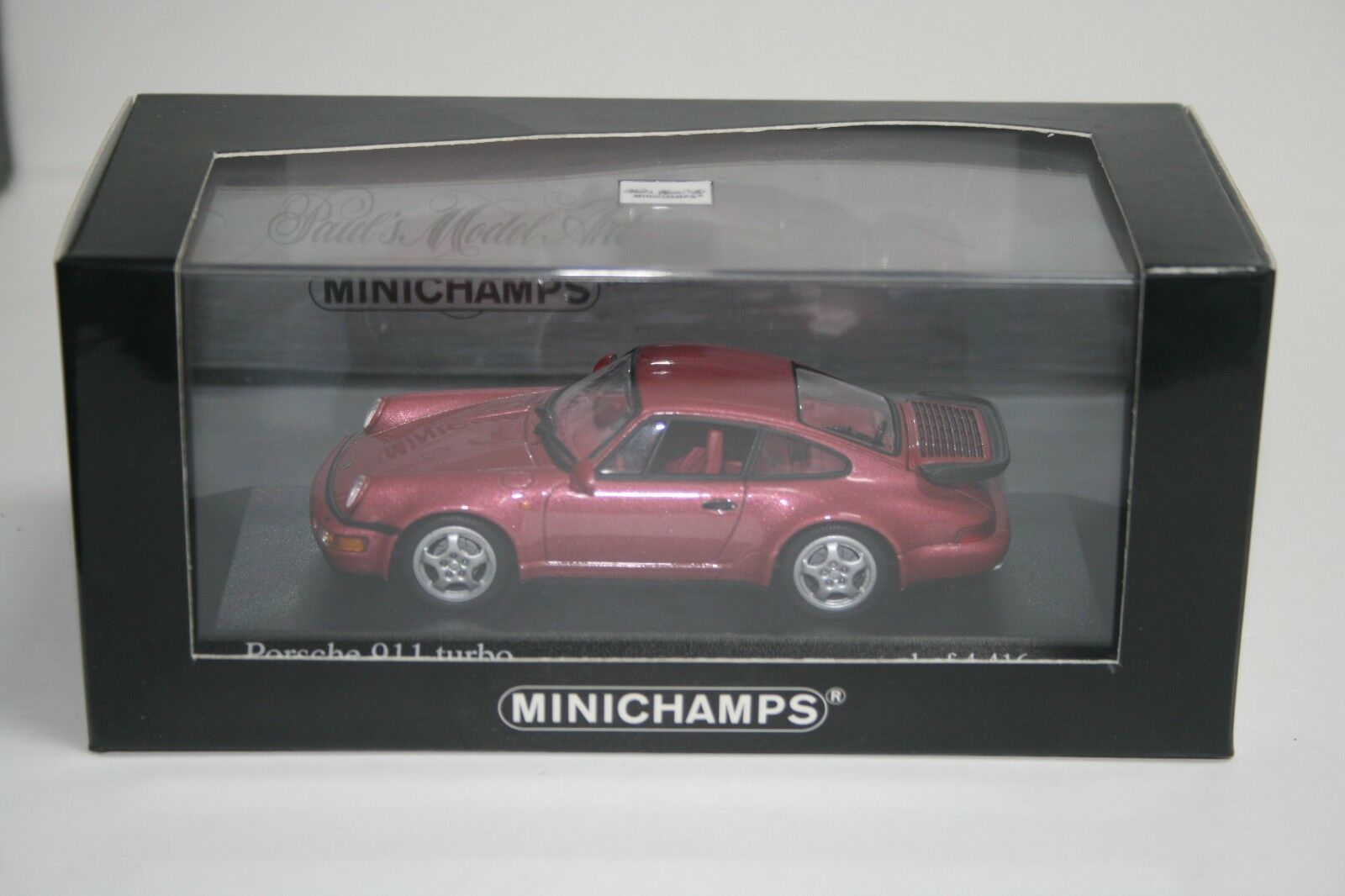 PORSCHE 911 (964) Turbo in Red Metallic, 1 of 4416 worldwide. SOLD OUT