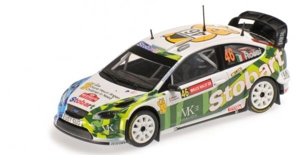 Ford Focus Rally Stobart Valentino Rossi rally Pays de Galles 2008 1 43 Model MINICHAMPS