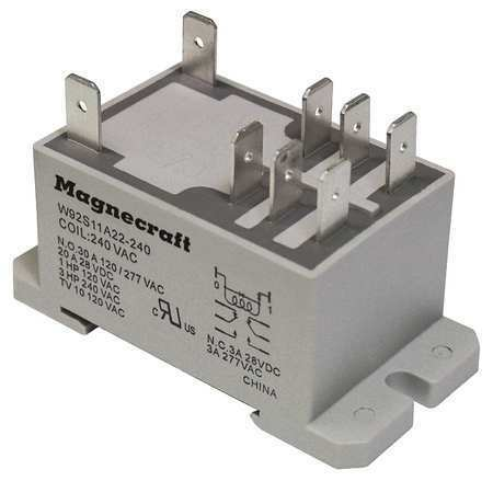 Schneider Electric 92S11a22d-240A Enclosed Power Relay,8 Pin,240Vac,Dpdt