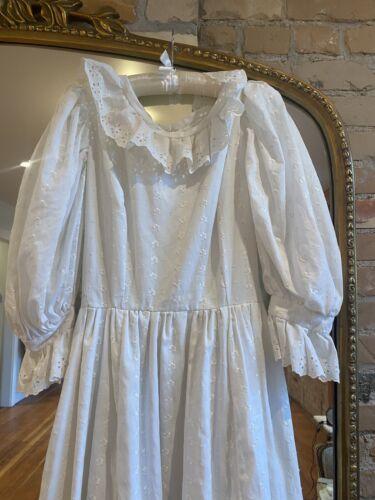 White Eyelet Vintage Prarie Dress