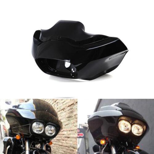 Black Inner Painted Outer Headlight Fairing For Harley FLTR Road Glide 1998-2013