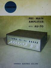 SANSUI AU-70 PRE MAIN AMP SERVICE MANUAL INC SCHEMATICS PRINTED BOUND ENGLISH