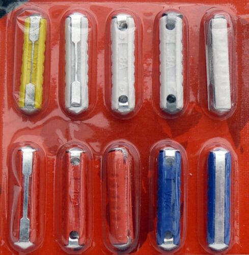 1 Satz runde Auto-Sicherungen KFZ Sicherungen Set Torpedo-Sicherungen 10 Stück