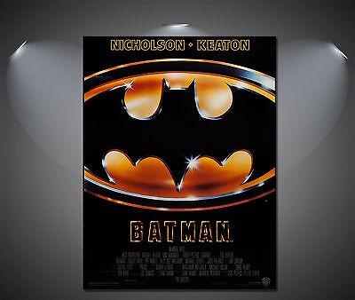 Wall Hangings Batman Begins Dark Knight Movie Vintage Canvas Print A0 A1 A2 A3 A4