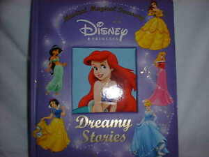 DISNEY-PRINCESS-DREAMY-STORIES-Book-10-Stories-amp-Music-Hard-Cover-Board-HTF