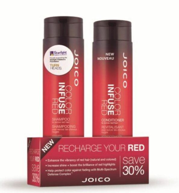 Joico Color Infuse Red Shampoo and Conditioner 300ml Duo Pack Colour
