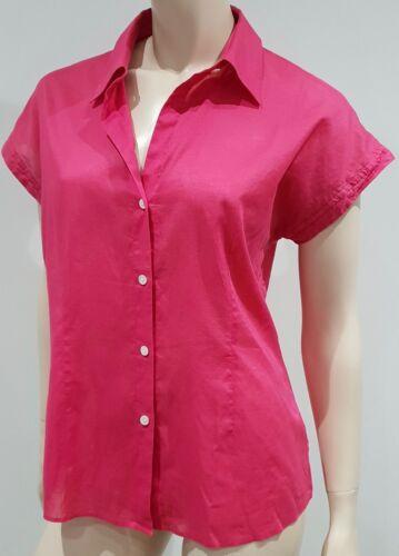 maniche Theory colletto maniche corte semitrasparente a Camicia 100 rosa corte con a cotone Hxqpn5R7
