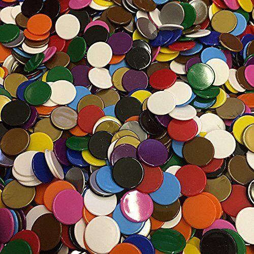 Counters 5 Colour Mix 22mm diameter plastic x 100