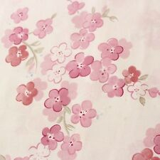 Pottery Barn Kids Flat Twin Sheet & 2 standard Pillowcases 2011 Pink Floral EUC