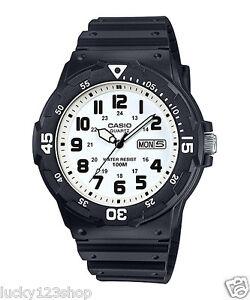 9cfdee5b1 MRW-200H-7B White Casio Watches 100M Date Day Display Analog Resin ...