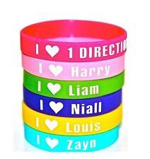 One Direction - 6 x Gummy Wristbands - Louis, Zayn, Liam, Niall, Harry & I Love