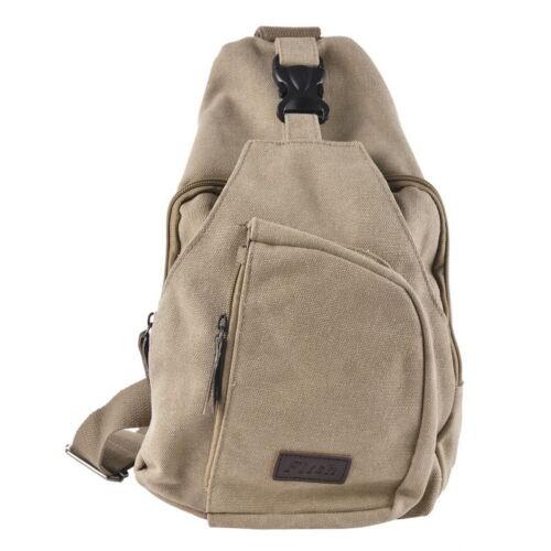 Mens Small Canvas CasualMessenger Shoulder Travel Hiking Bag Backpack GIFT