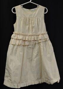 5f2e115d8 J Crew Cuts silk taffeta Flower Girl Occasion Dress gown bridal ...