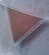 RUSTIC BUNTING. HESSIAN AND LACE. WEDDING/ PARTY DECORATION.